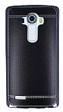LG G4 Dikiş İzli Siyah Silikon Kılıf