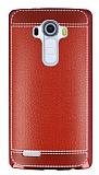 LG G4 Dikiş İzli Kırmızı Silikon Kılıf