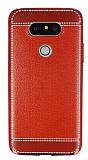 Eiroo Retro Look LG G5 Kırmızı Silikon Kılıf