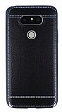 Eiroo Retro Look LG G5 Siyah Silikon Kılıf