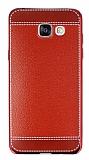 Samsung Galaxy A5 2016 Dikiş İzli Kırmızı Silikon Kılıf