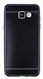 Eiroo Retro Look Samsung Galaxy A5 2016 Siyah Silikon K�l�f
