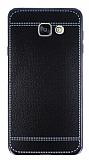 Eiroo Retro Look Samsung Galaxy A7 2016 Siyah Silikon K�l�f