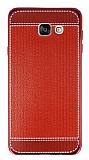 Eiroo Retro Look Samsung Galaxy A7 2016 Kırmızı Silikon Kılıf