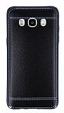 Eiroo Retro Look Samsung Galaxy J5 2016 Siyah Silikon K�l�f