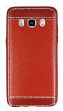 Eiroo Retro Look Samsung Galaxy J5 2016 K�rm�z� Silikon K�l�f