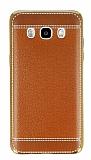 Eiroo Retro Look Samsung Galaxy J5 2016 Kahverengi Silikon K�l�f