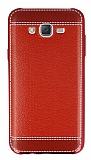 Samsung Galaxy J7 Dikiş İzli Kırmızı Silikon Kılıf