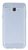 Samsung Galaxy J7 Dikiş İzli Silver Silikon Kılıf