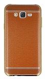 Eiroo Retro Look Samsung Galaxy J7 Kahverengi Silikon Kılıf