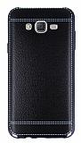 Eiroo Retro Look Samsung Galaxy J7 Siyah Silikon K�l�f