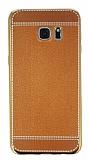 Eiroo Retro Look Samsung Galaxy S7 Edge Kahverengi Silikon K�l�f