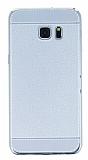 Eiroo Retro Look Samsung Galaxy S7 Edge Silver Silikon K�l�f
