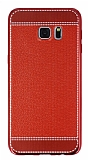 Eiroo Retro Look Samsung Galaxy S7 Edge K�rm�z� Silikon K�l�f