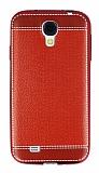 Samsung i9500 Galaxy S4 Dikiş İzli Kırmızı Silikon Kılıf