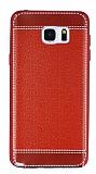 Eiroo Retro Look Samsung Galaxy Note 5 K�rm�z� Silikon K�l�f