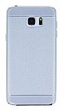 Eiroo Retro Look Samsung Galaxy Note 5 Silver Silikon K�l�f
