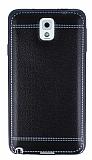 Samsung N9000 Galaxy Note 3 Dikiş İzli Siyah Silikon Kılıf