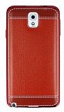 Samsung N9000 Galaxy Note 3 Dikiş İzli Kırmızı Silikon Kılıf