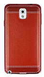 Eiroo Retro Look Samsung N9000 Galaxy Note 3 Kırmızı Silikon Kılıf