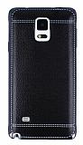 Eiroo Retro Look Samsung N9100 Galaxy Note 4 Siyah Silikon K�l�f