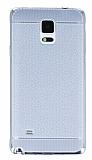 Eiroo Retro Look Samsung N9100 Galaxy Note 4 Silver Silikon K�l�f