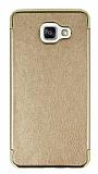 Eiroo Rind Samsung Galaxy A7 2016 Gold Silikon Kılıf