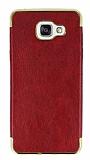 Eiroo Rind Samsung Galaxy A7 2016 Bordo Silikon Kılıf