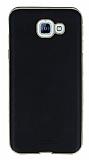 Eiroo Rind Samsung Galaxy A8 2016 Siyah Silikon Kılıf