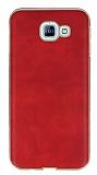 Eiroo Rind Samsung Galaxy A8 2016 Kırmızı Silikon Kılıf