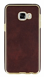 Eiroo Rind Samsung Galaxy C7 SM-C7000 Kahverengi Silikon Kılıf