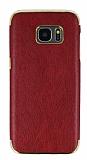 Eiroo Rind Samsung Galaxy S7 Edge Bordo Silikon Kılıf
