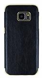 Eiroo Rind Samsung Galaxy S7 Edge Siyah Silikon Kılıf