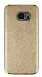 Eiroo Rind Samsung Galaxy S7 Edge Gold Silikon Kılıf