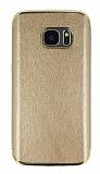 Eiroo Rind Samsung Galaxy S7 Gold Silikon Kılıf