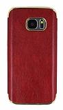 Eiroo Rind Samsung Galaxy S7 Bordo Silikon Kılıf