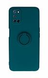 Eiroo Ring Color Oppo A92 Yüzüklü Yeşil Silikon Kılıf