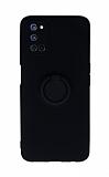 Eiroo Ring Color Oppo A92 Yüzüklü Siyah Silikon Kılıf