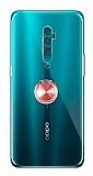 Eiroo Ring Crystal Oppo Reno 10x zoom Yüzüklü Rose Gold Silikon Kılıf