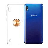 Eiroo Ring Color Samsung Galaxy A10 Yüzüklü Gold Silikon Kılıf