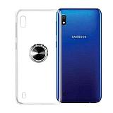 Eiroo Ring Color Samsung Galaxy A10 Yüzüklü Siyah Silikon Kılıf