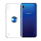 Eiroo Ring Color Samsung Galaxy A10 Yüzüklü Mavi Silikon Kılıf