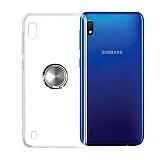 Eiroo Ring Color Samsung Galaxy A10 Yüzüklü Silver Silikon Kılıf