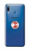 Eiroo Ring Color Samsung Galaxy A20 Yüzüklü Rose Gold Silikon Kılıf
