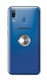 Eiroo Ring Color Samsung Galaxy A20 Yüzüklü Silver Silikon Kılıf