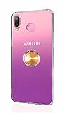 Eiroo Ring Color Samsung Galaxy A6s Yüzüklü Gold Silikon Kılıf