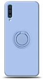 Eiroo Ring Color Samsung Galaxy A70 Yüzük Tutuculu Mavi Silikon Kılıf