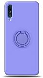 Eiroo Ring Color Samsung Galaxy A70 Yüzük Tutuculu Mor Silikon Kılıf