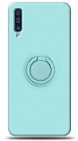 Eiroo Ring Color Samsung Galaxy A70 Yüzük Tutuculu Turkuaz Silikon Kılıf