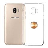 Eiroo Ring Crystal Samsung Galaxy J2 Core J260F Yüzüklü Gold Silikon Kılıf
